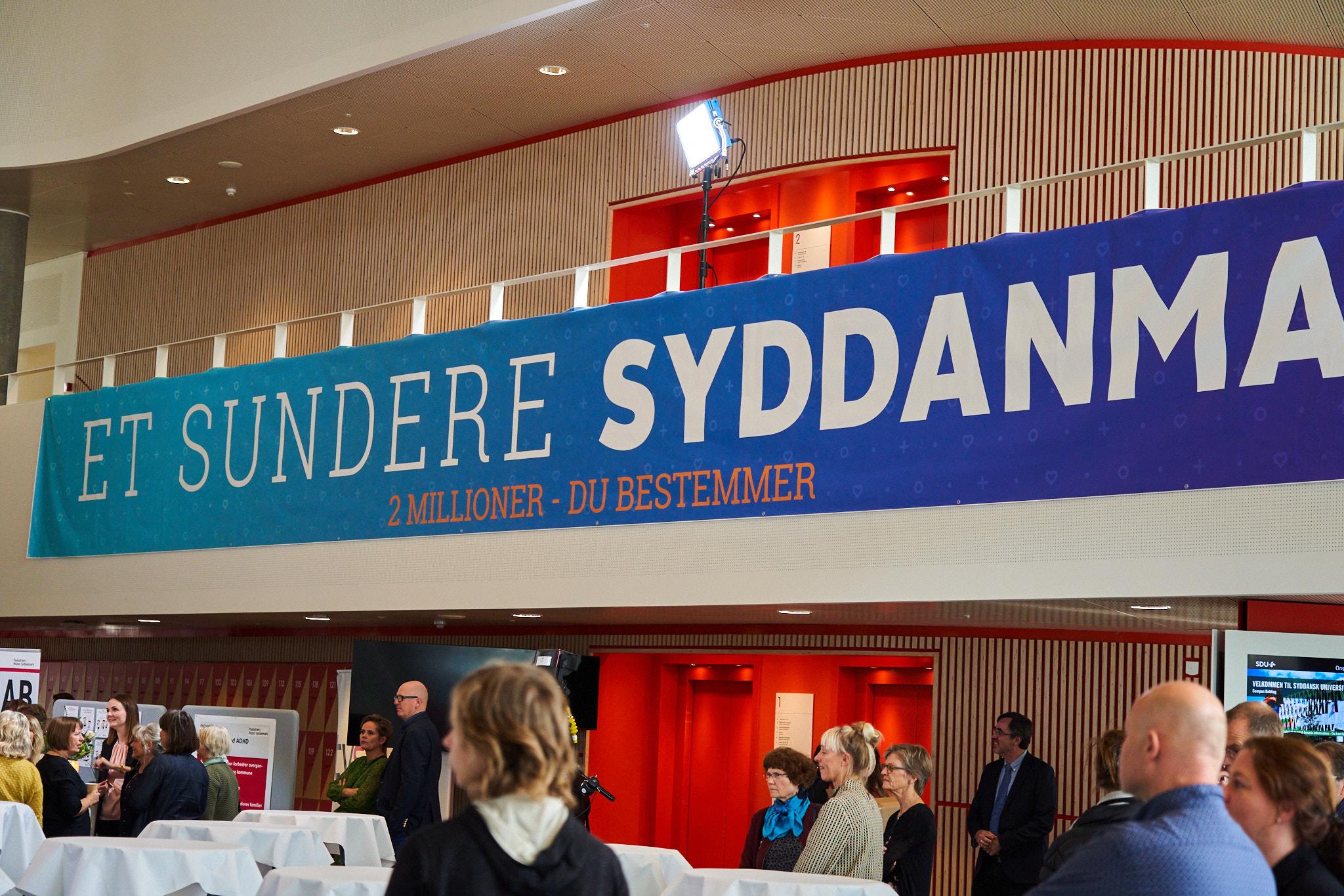 Afvikling af Et sundere Syddanmark på SDU i Kolding